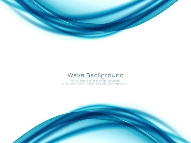 Fondo moderno de diseño de onda azul