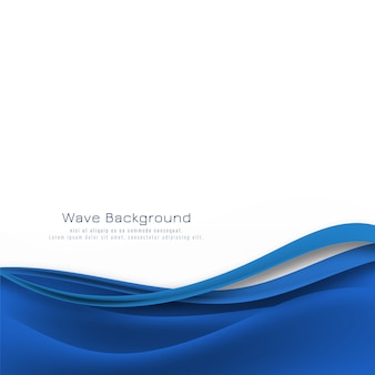 Fondo moderno elegante onda azul