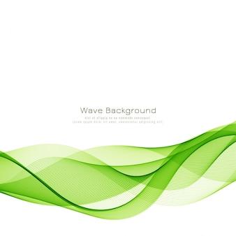 Fondo moderno con estilo ola verde