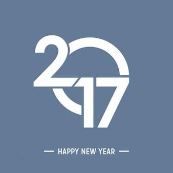 Fondo moderno de feliz año nuevo 2017