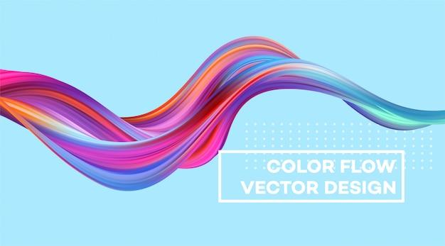 Fondo moderno flujo colorido.
