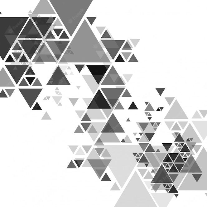 Fondo moderno gris hermoso polígono