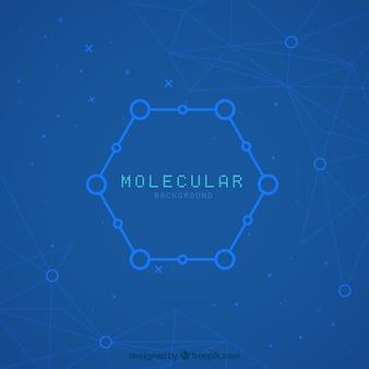 Fondo moderno de hexágono con moléculas