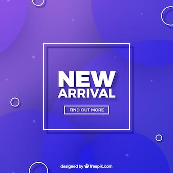 Fondo moderno de nueva llegada