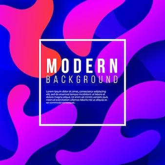 Fondo moderno con ondas del gradiente