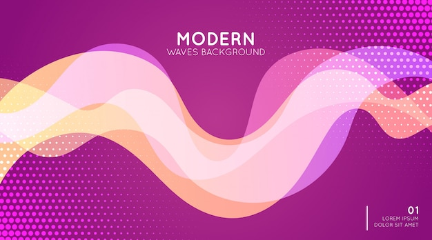 Fondo moderno de las ondas