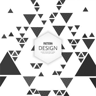 Fondo moderno con patrones triangulares