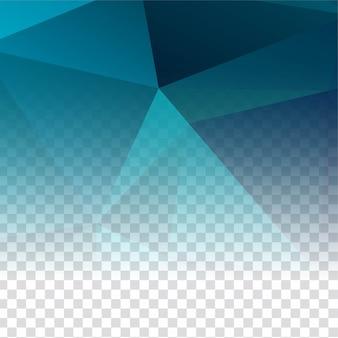 Fondo moderno poligonal transparente abstracto