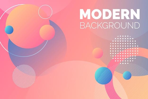 Fondo moderno redondo colorido