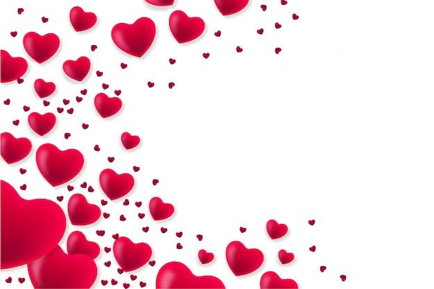 Fondo moderno de san valentín con corazones