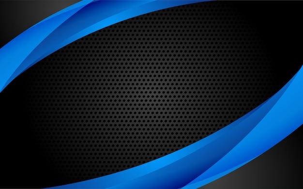 Fondo moderno de tecnología azul con estilo abstracto