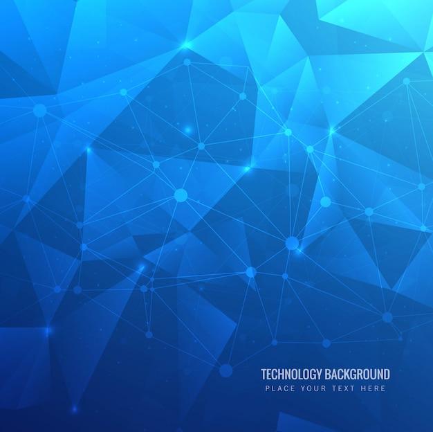 Fondo moderno tecnología azul polígono
