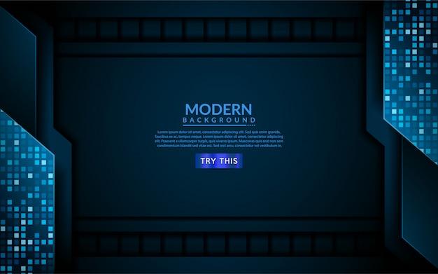 Fondo moderno de tecnología azul