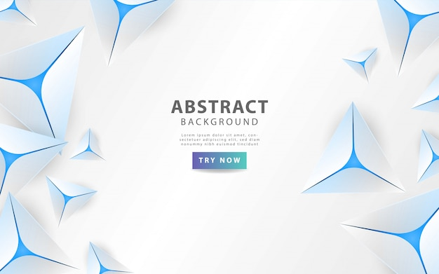 Fondo moderno triángulo abstracto gris con línea azul