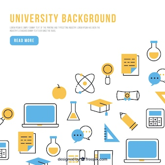 Fondo moderno de universidad