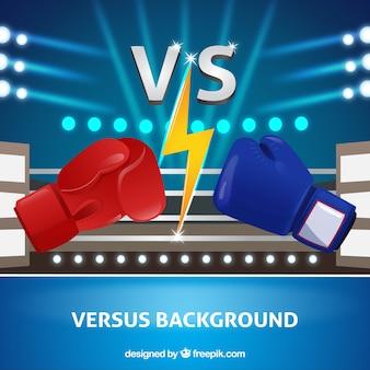 Fondo moderno de versus con boxeo