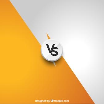 Fondo moderno de versus con estilo elegante