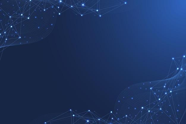 Fondo de molécula científica para medicina, ciencia, tecnología, química. papel tapiz o pancarta con moléculas de adn, átomos, neuronas. fondo futurista abstracto. ilustración vectorial.