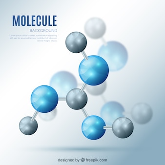 Fondo de moléculas con efecto realista