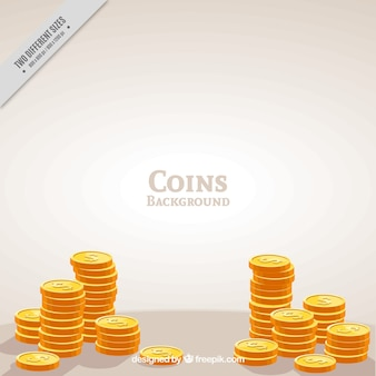 Fondo de monedas de oro