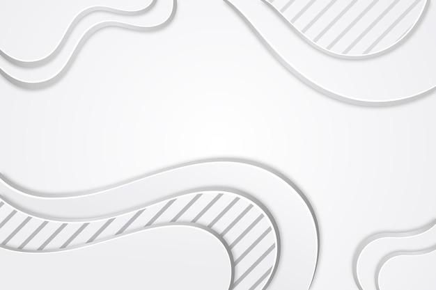Fondo monocromático blanco de estilo de papel Vector Premium