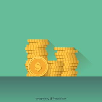 Fondo de montón de monedas