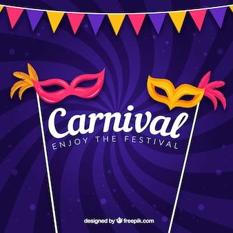 Fondo morado de carnaval