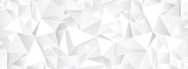 Fondo de mosaico abstracto poligonal blanco