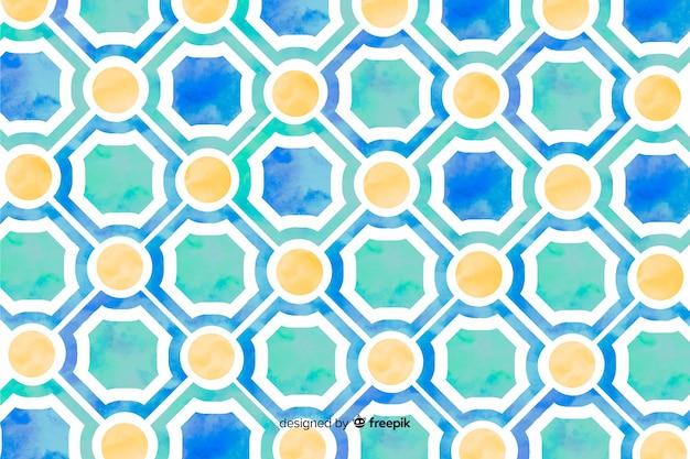 Fondo de mosaico de acuarela