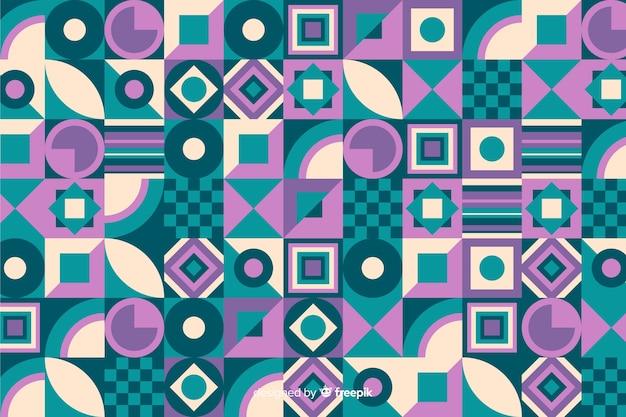 Fondo de mosaico colorido decorativo con formas geométricas