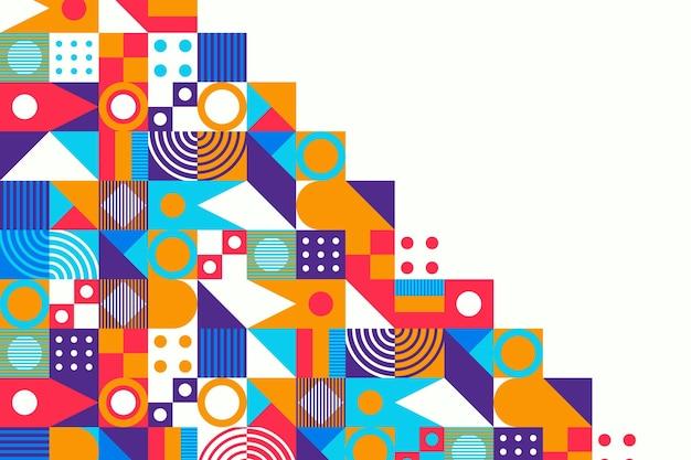 Fondo de mosaico colorido diseño plano