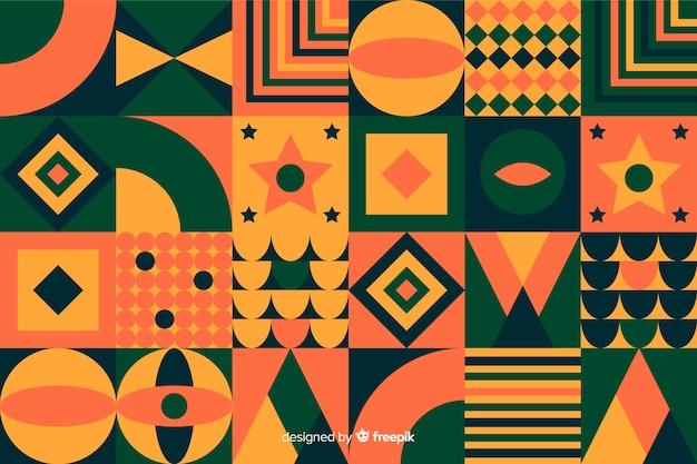 Fondo de mosaico colorido con formas geométricas
