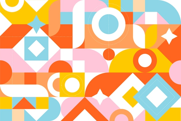 Fondo de mosaico colorido plano