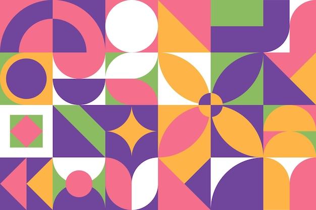 Fondo de mosaico de diseño plano