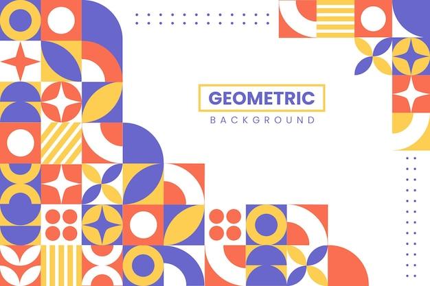 Fondo de mosaico de forma geométrica de diseño plano
