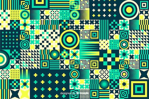 Fondo de mosaico con formas geométricas coloridas