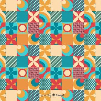 Fondo mosaico geométrico colorido