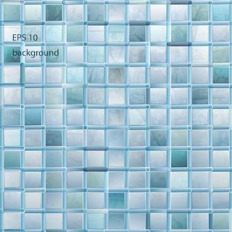 Fondo de mosaico de luz grunge en color aqua