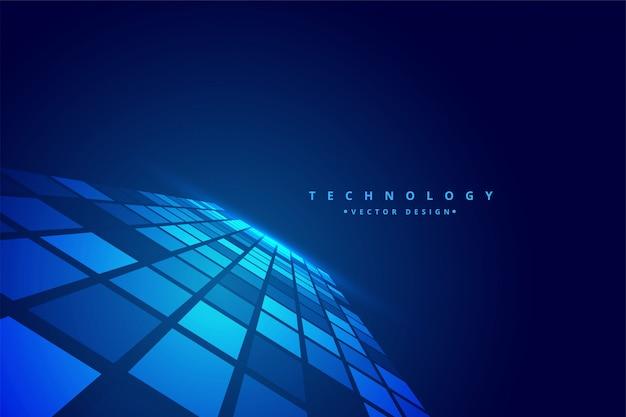 Fondo de mosaico de perspectiva digital de tecnología