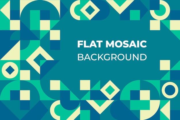 Fondo de mosaico plano