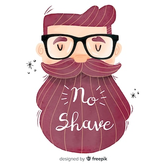 Fondo de movember con hombre con barba