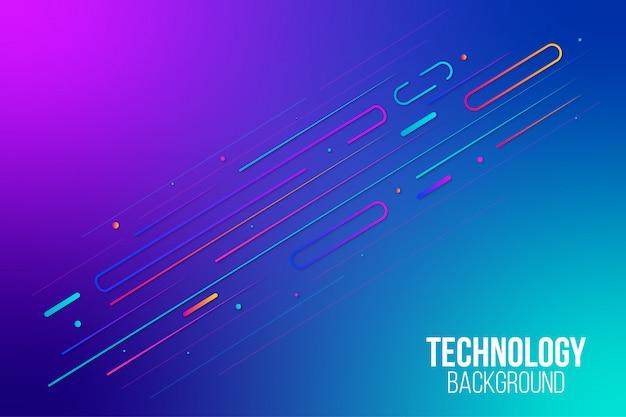 Fondo de movimiento de tecnología moderna con estilo abstracto