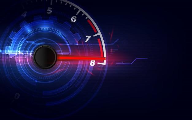 Fondo de movimiento de velocidad con coche velocímetro rápido. fondo de velocidad de carrera.