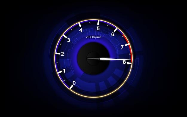 Fondo de movimiento de velocidad con coche velocímetro.