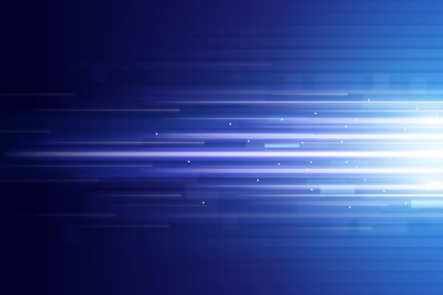 Fondo de movimiento de velocidad de neón realista