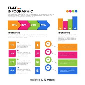 Fondo muestra infografía plana