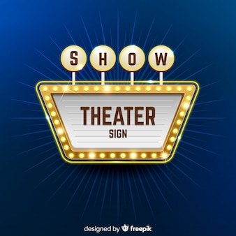 Fondo de la muestra del teatro