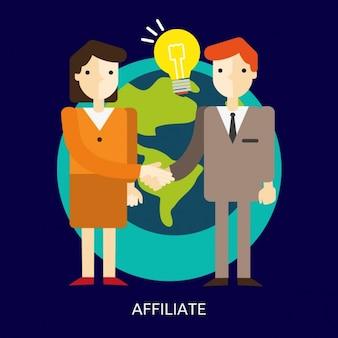 Fondo de mujer y hombre asociados