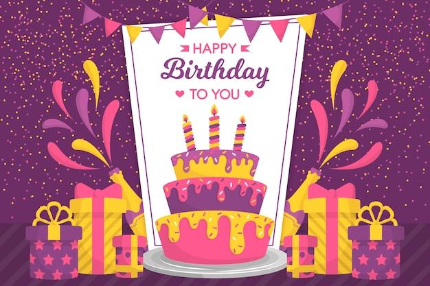 Fondo multicolor feliz cumpleaños