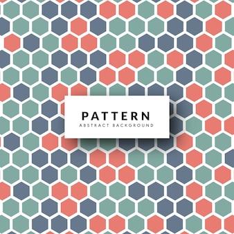 Fondo multicolor patrón de panal